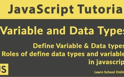 Variables and Datatypes in JavaScript